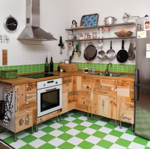 R3project upcycled kitchen