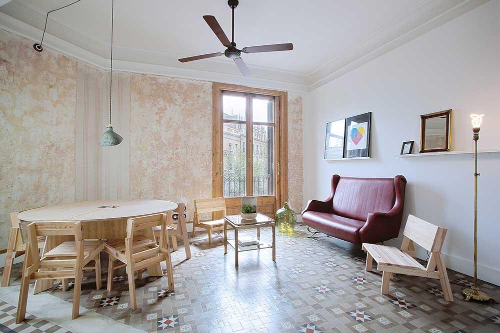 Casa A living room